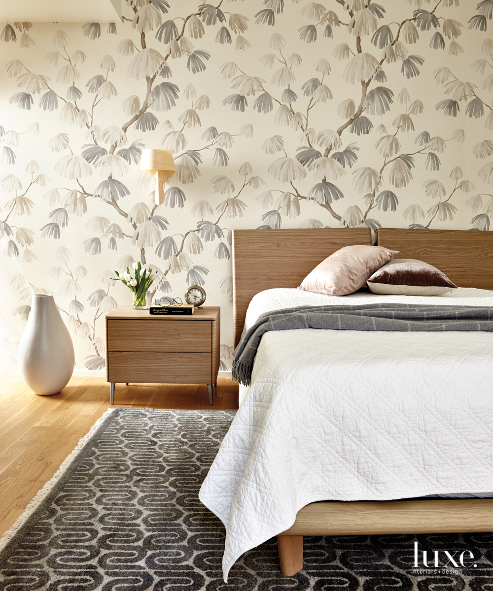 calming bedroom with a natural...