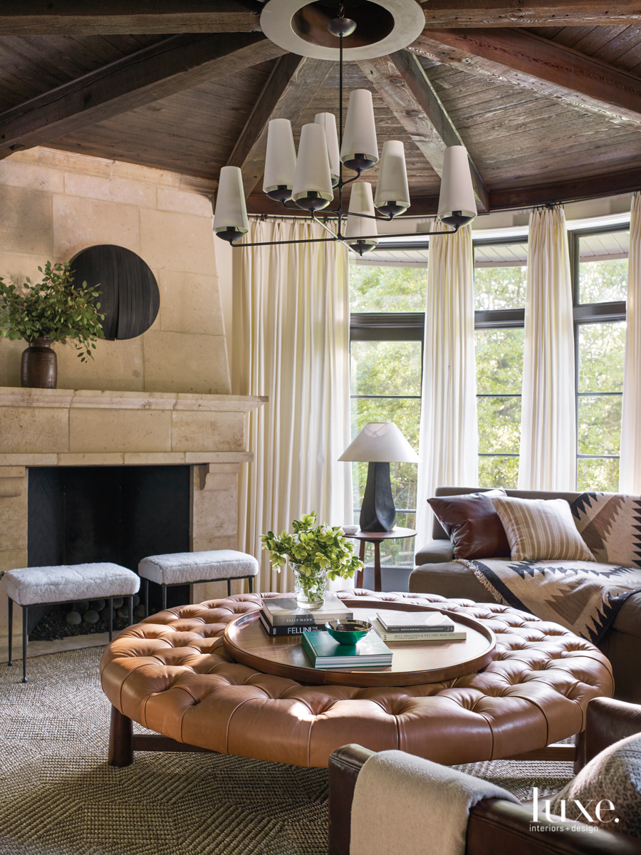 sitting area with a fireplace...