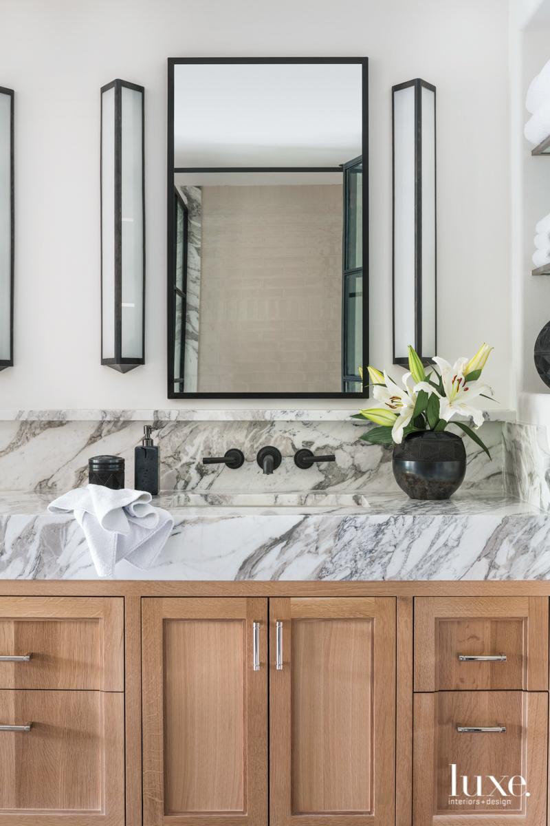 master bathroom marble vanity and...