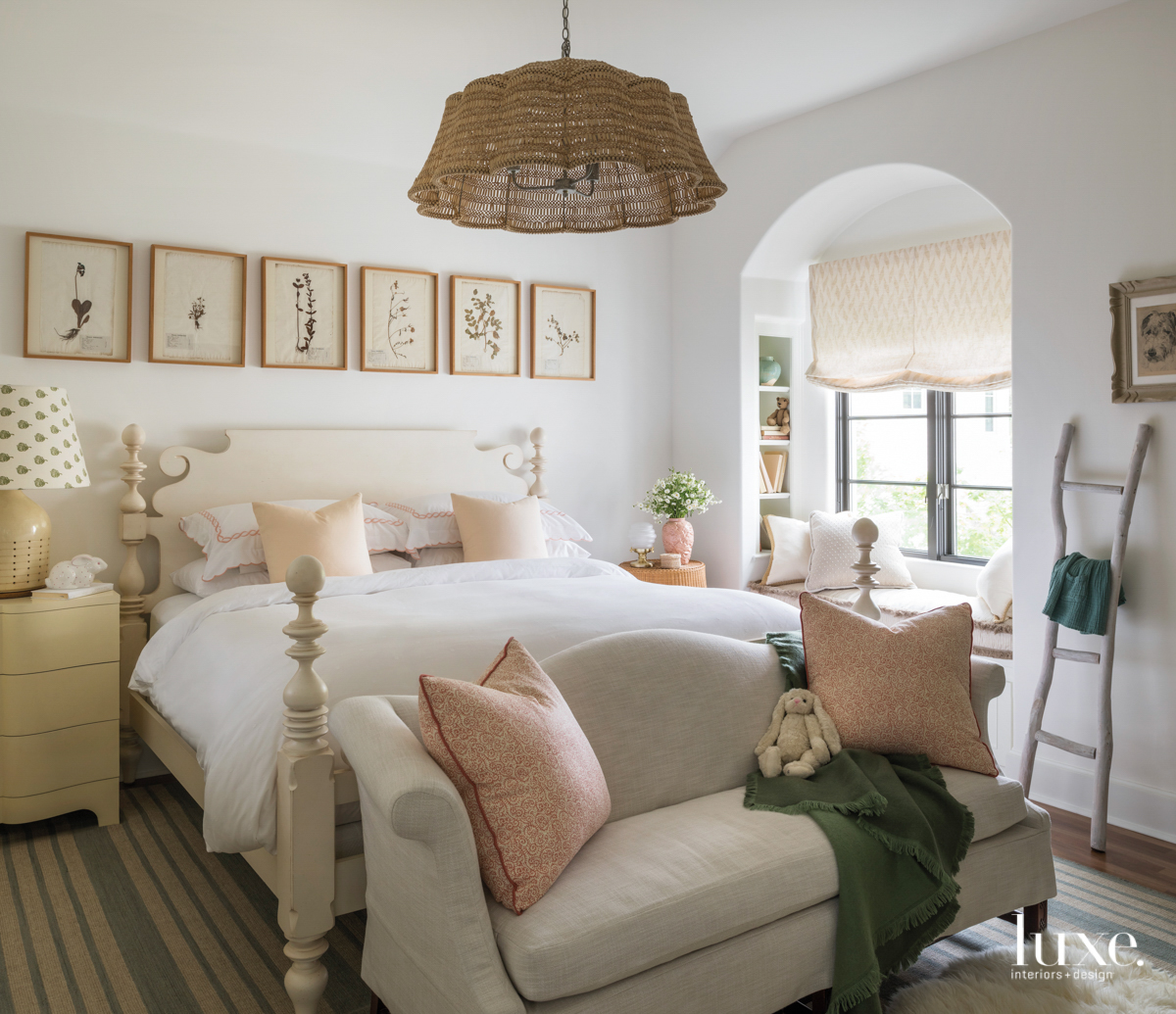 bedroom with prairie inspired elements,...