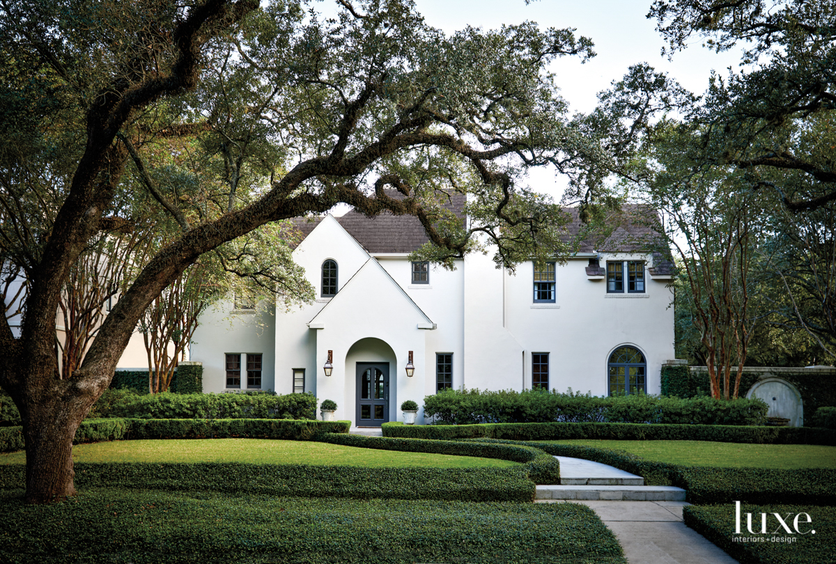 Exterior of Houston home with...