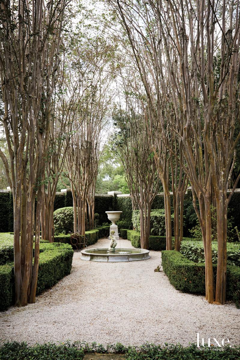 Romantic, European-style gardens