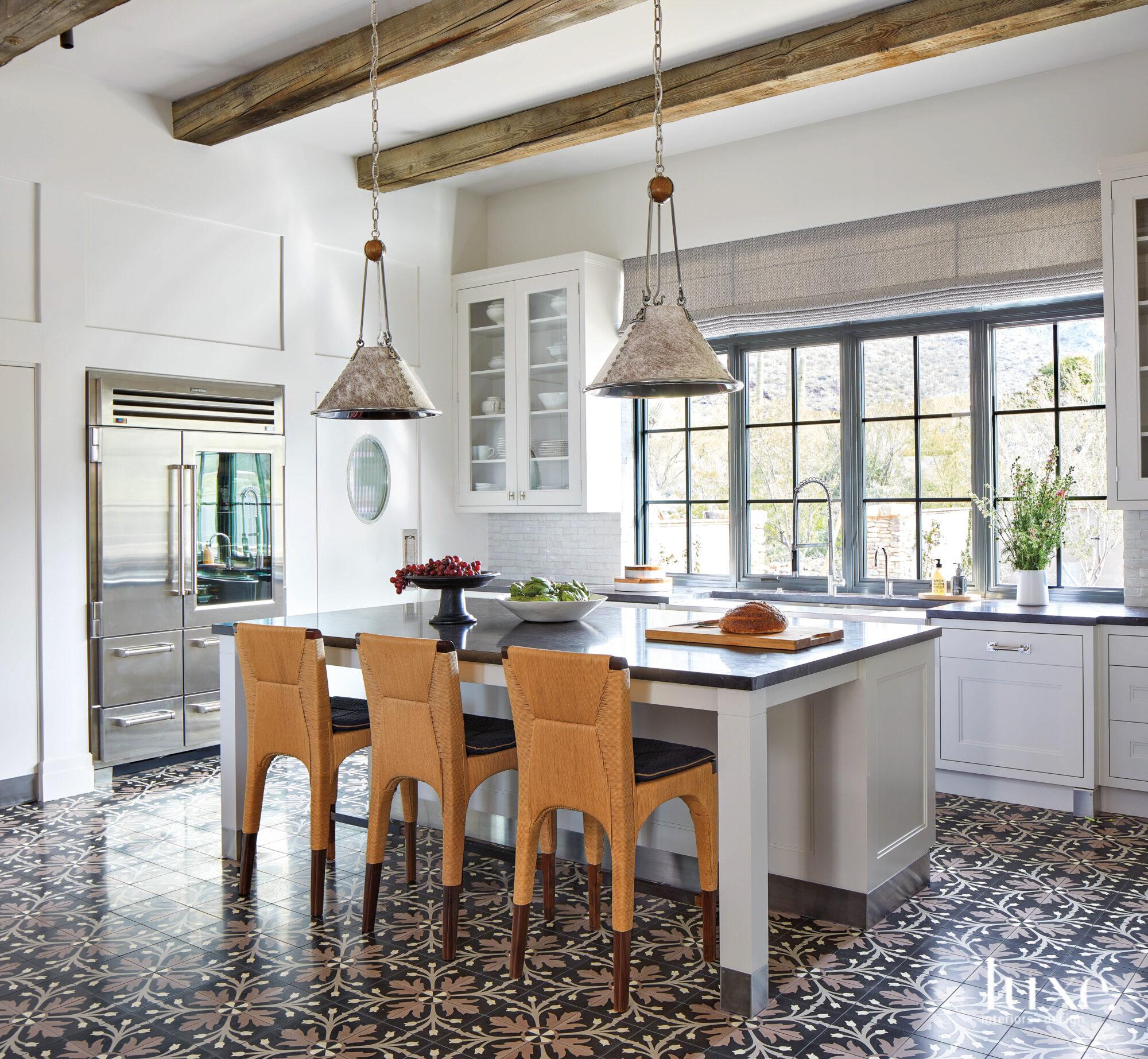 A bright Mediterranean style kitchen...