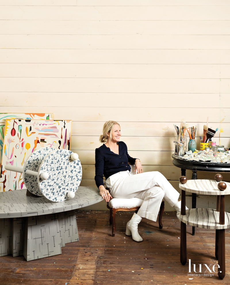 susan hable in her studio