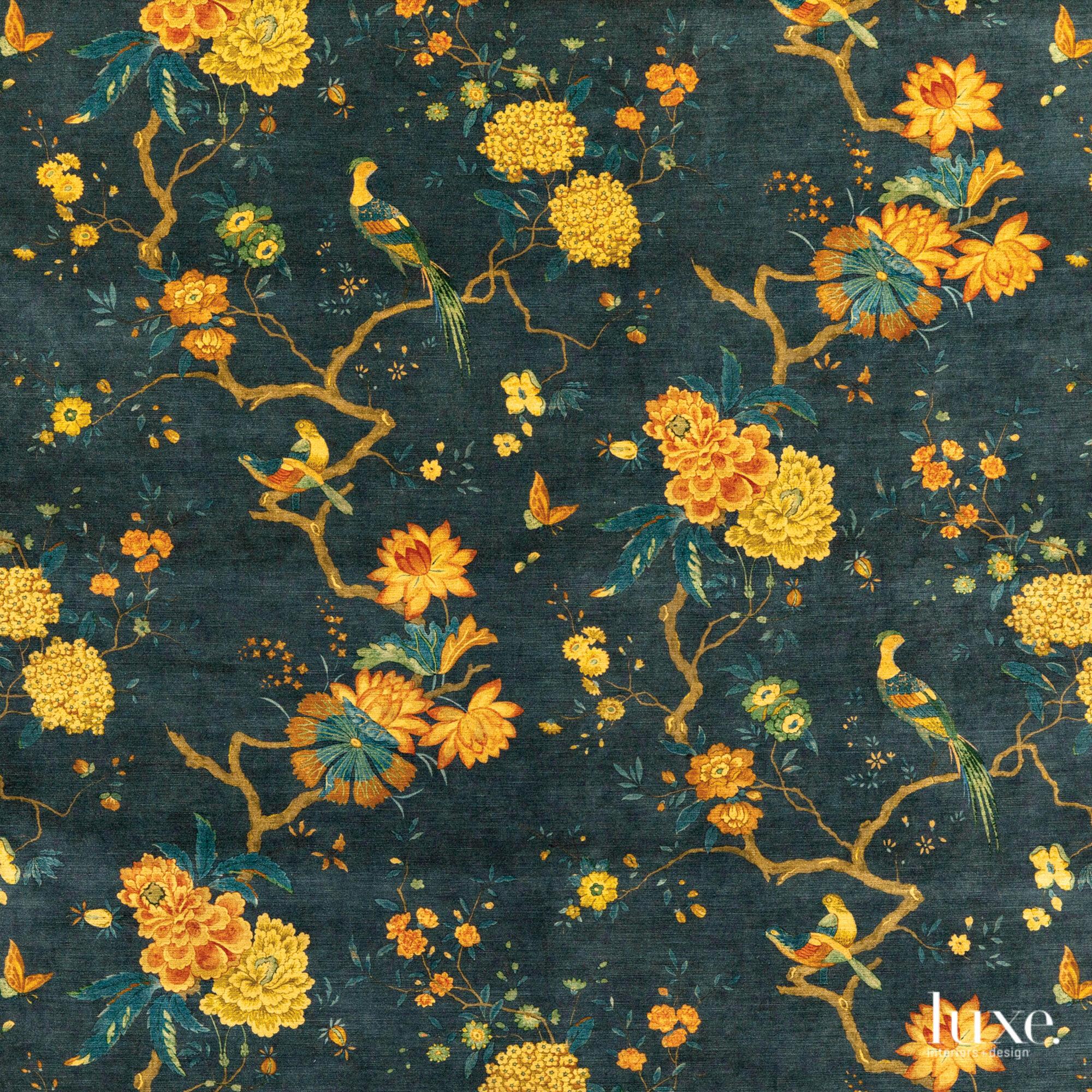Oriental Bird Velvet