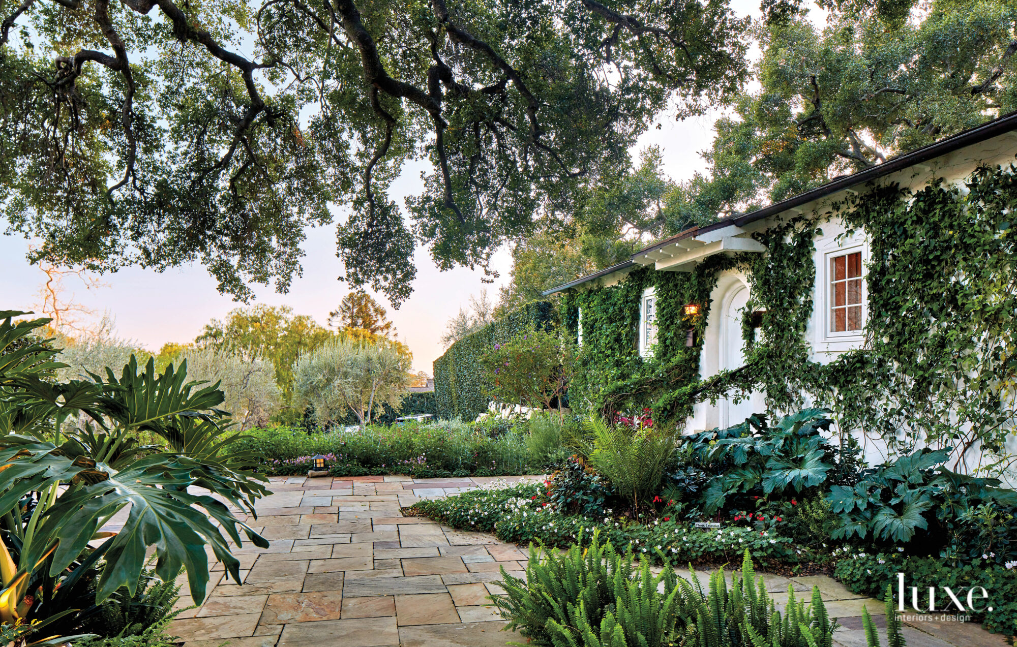 Gardens and a guest bungalow at the San Ysidro Ranch