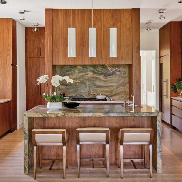 Rich Wood Accents Take Center Stage In This Coastal Kitchen