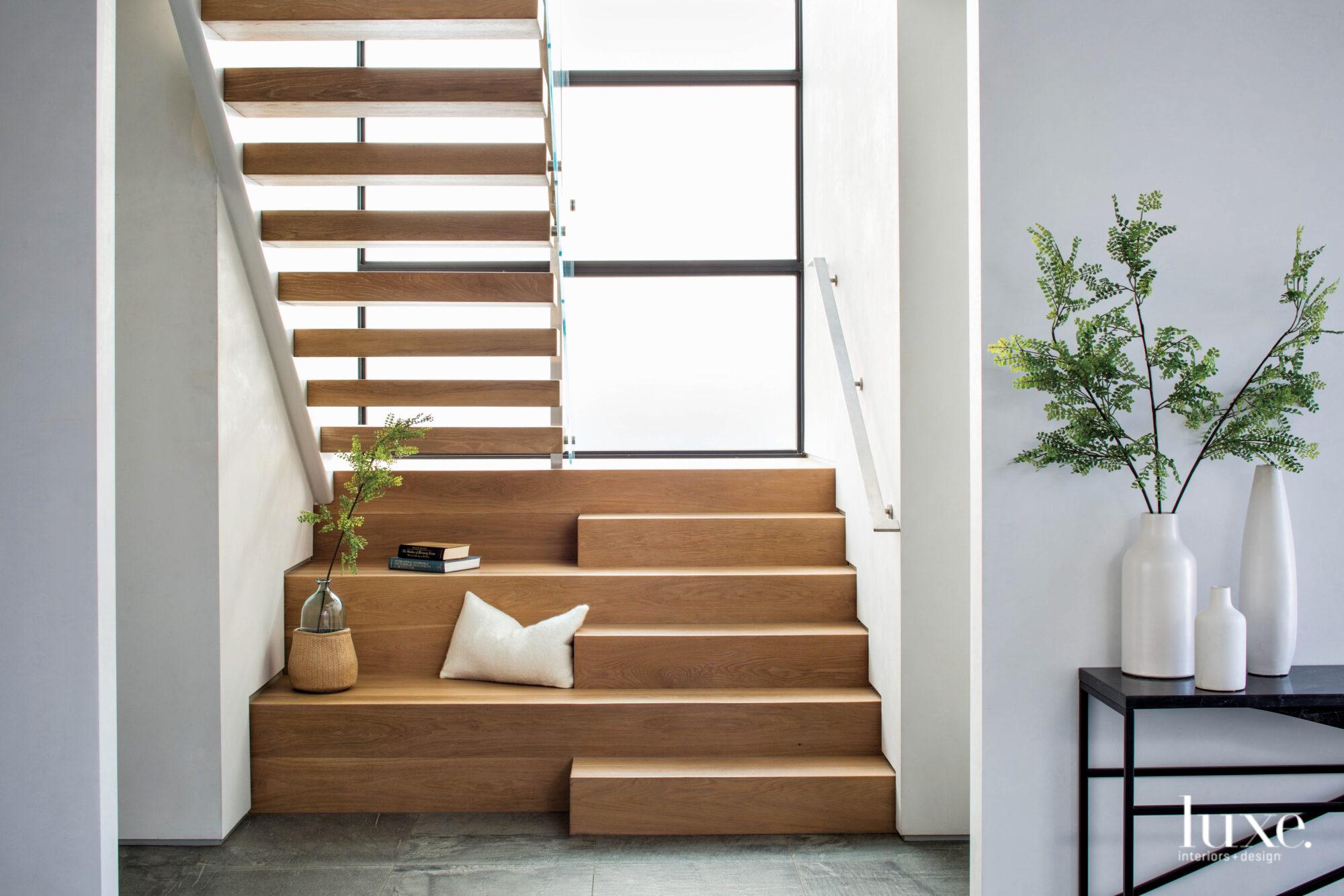 Detail shot of wood stairway...