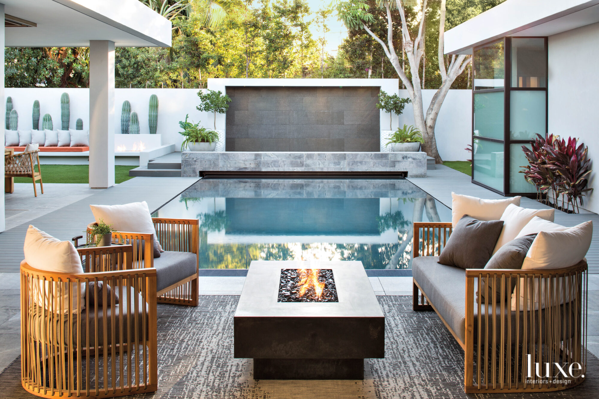Seating area with fire pit...