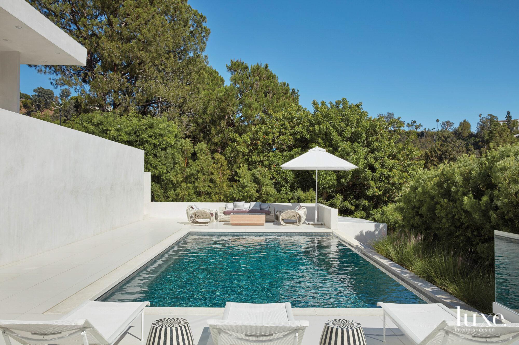 View overlooking pool