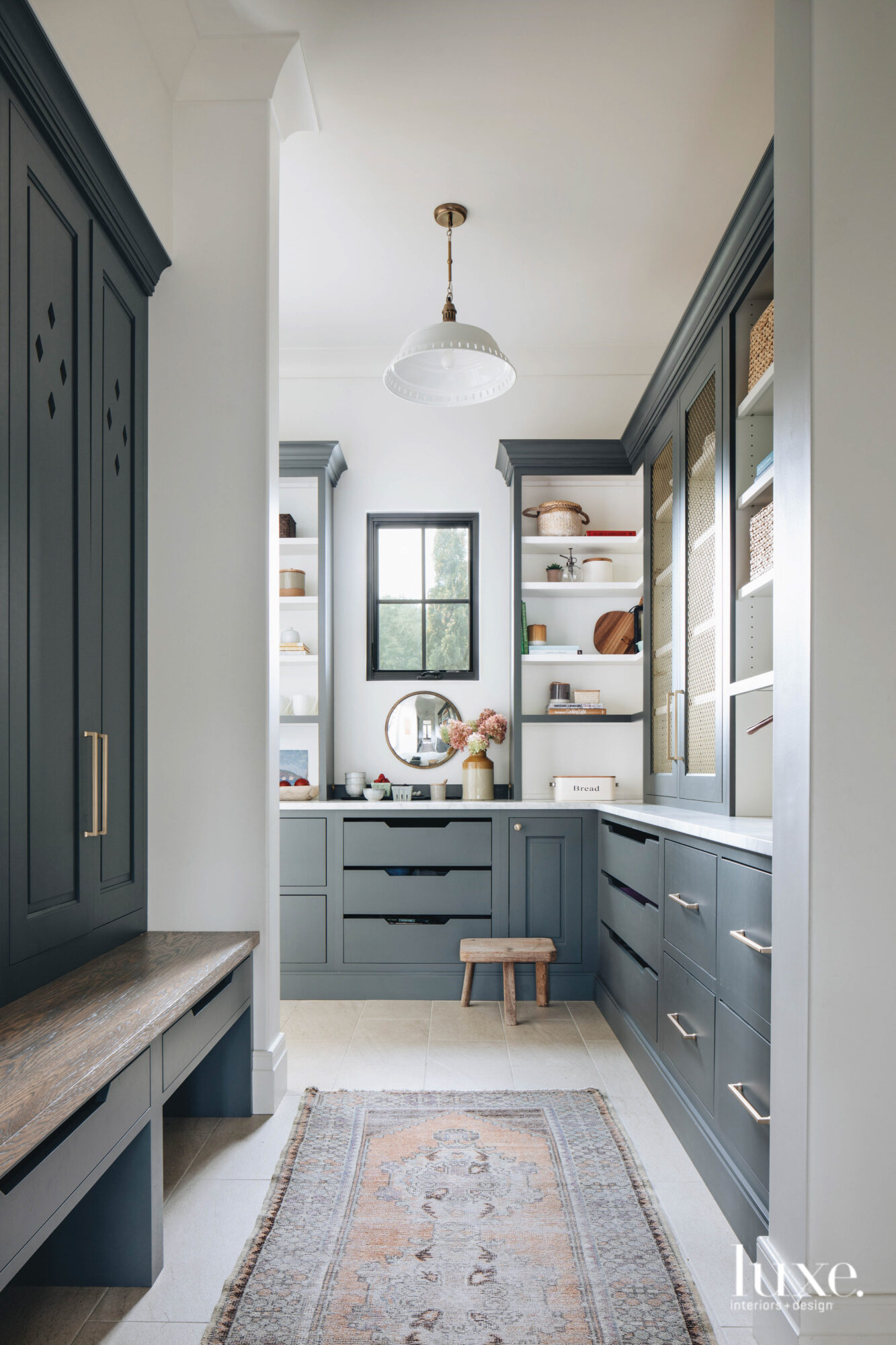 A dark, neutral-toned blue-gray adds...
