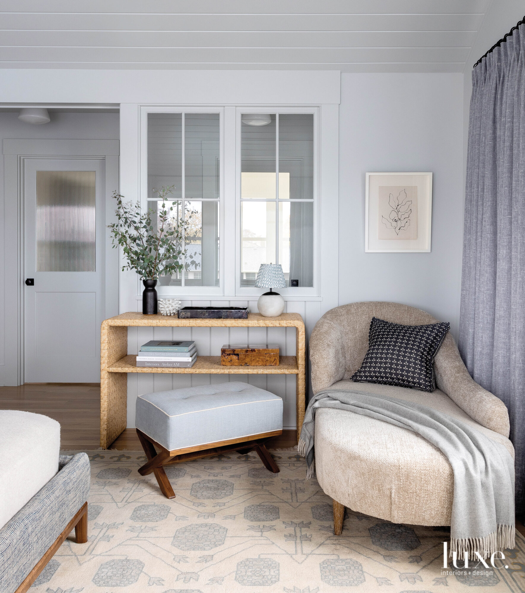 Master bedroom with vignette of...