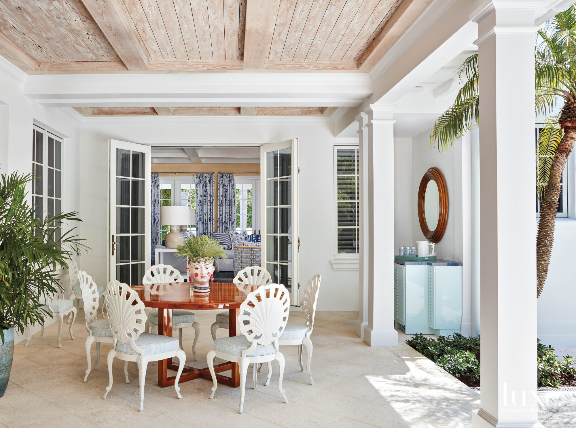 Loggia with vintage grotto chairs...