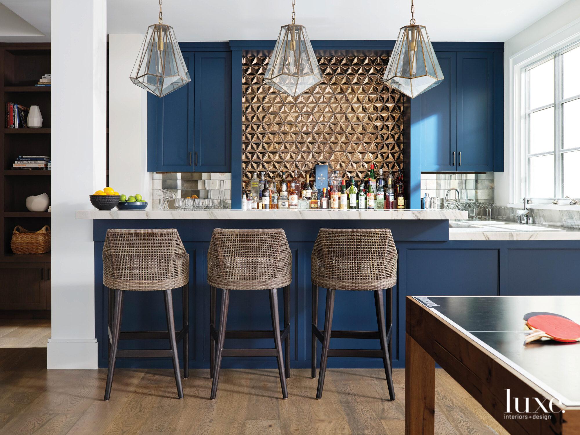 A row of bar stools...