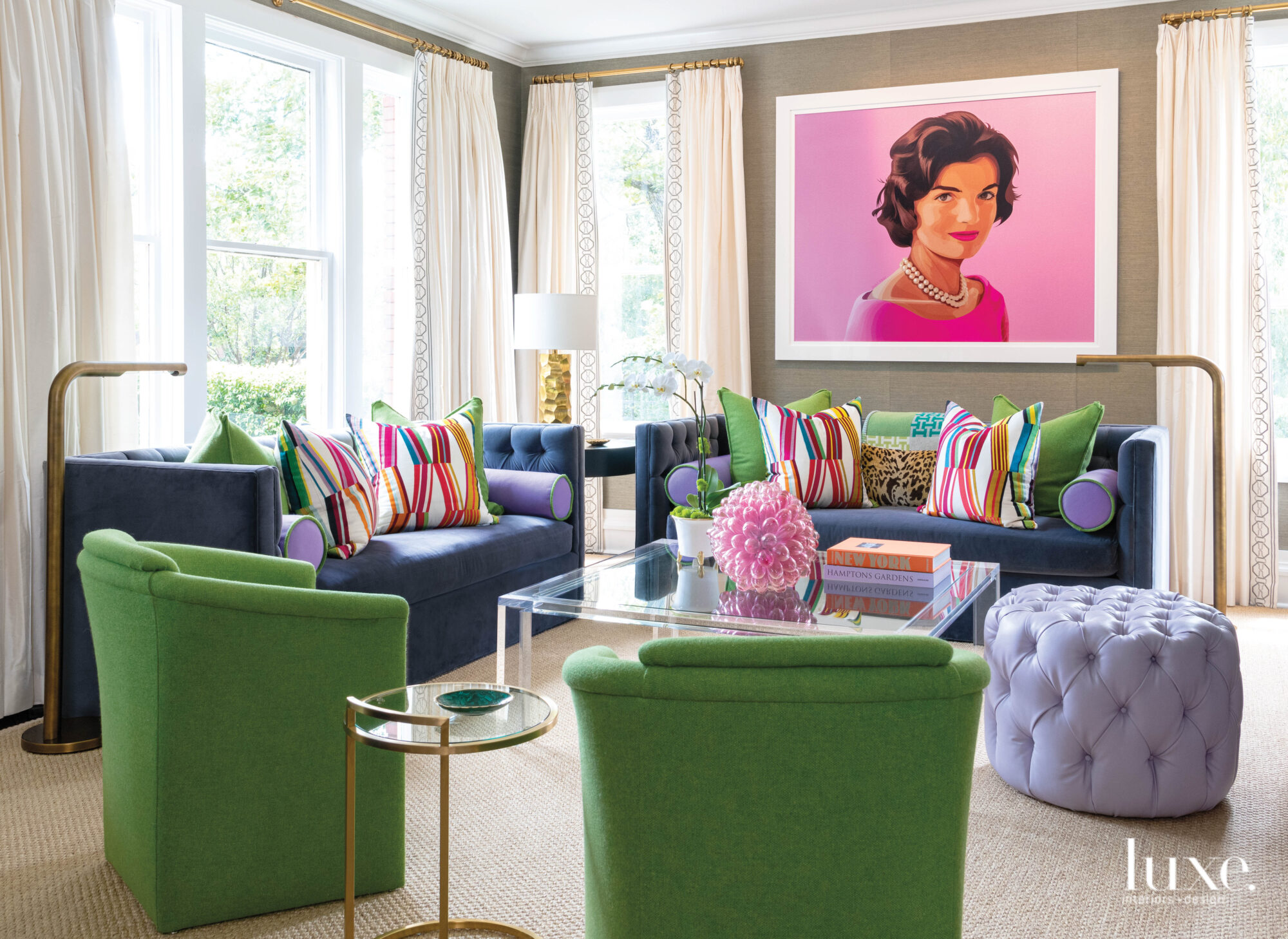 Family room with Jackie O...