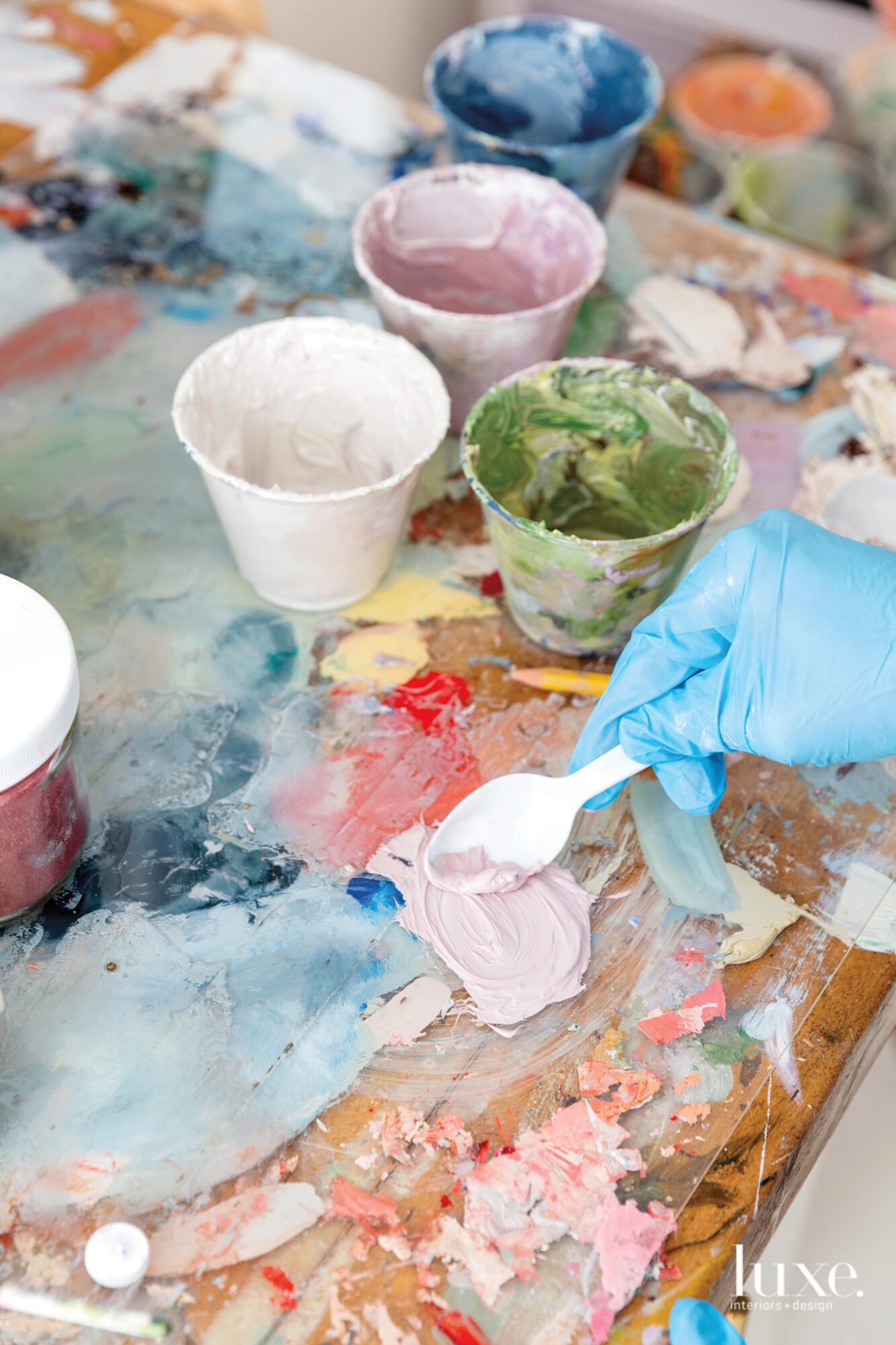 taelor fisher cups of paint