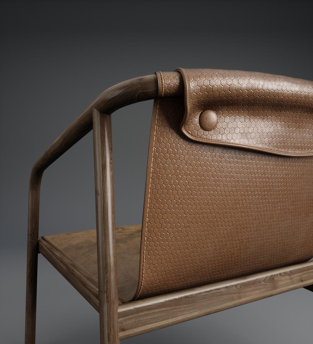 garrett leather honeycomb chair