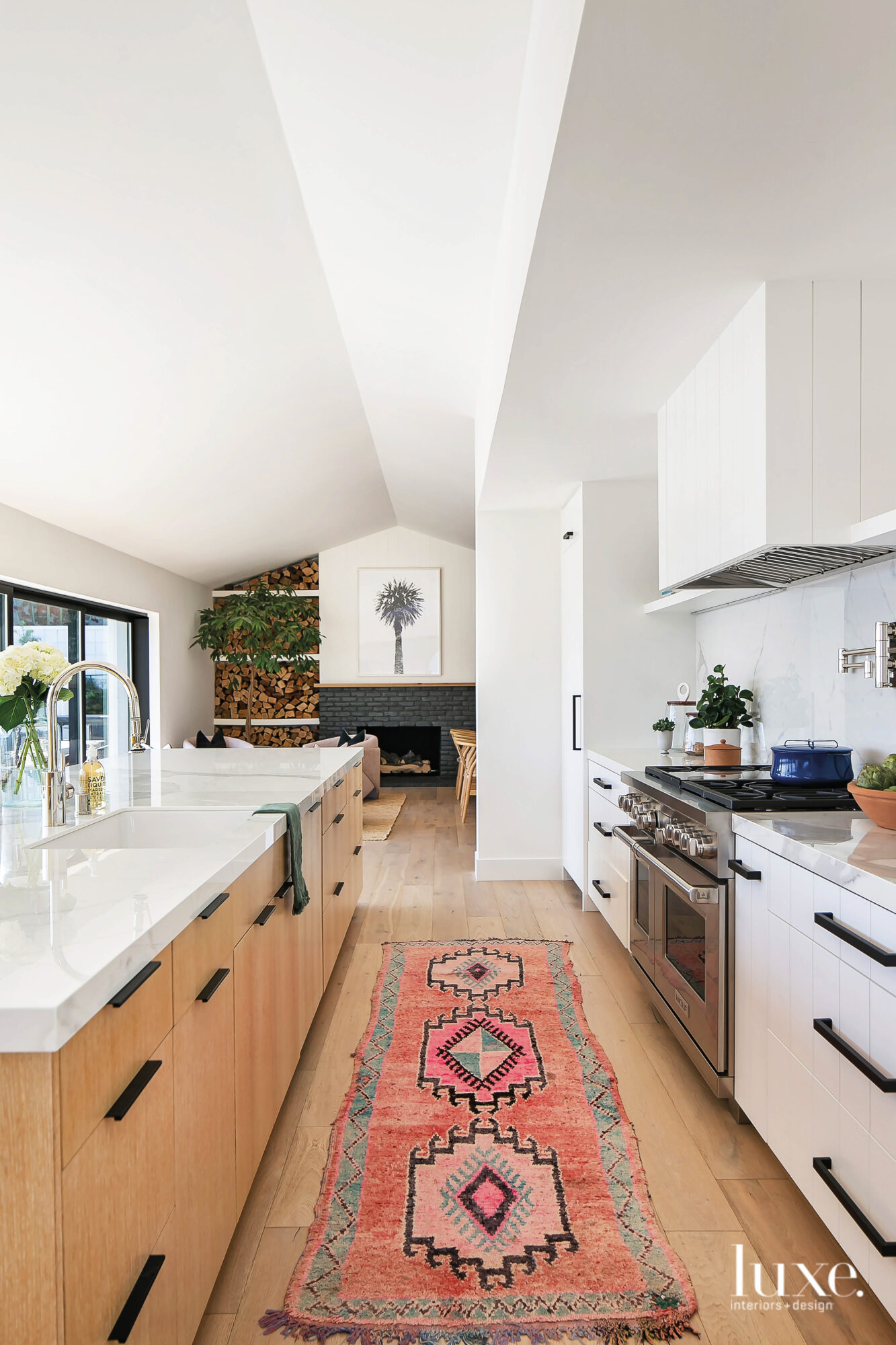 View of kitchen facing a...