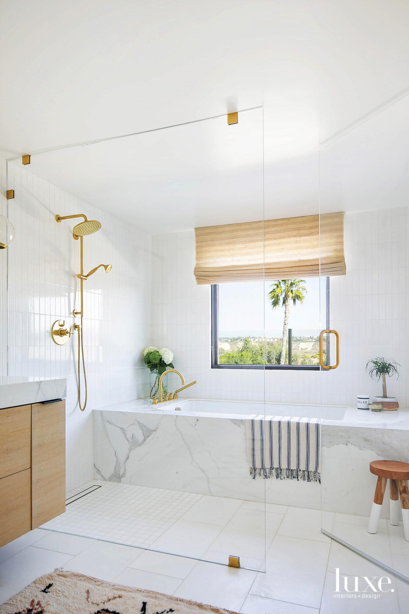 View of master bath facing...