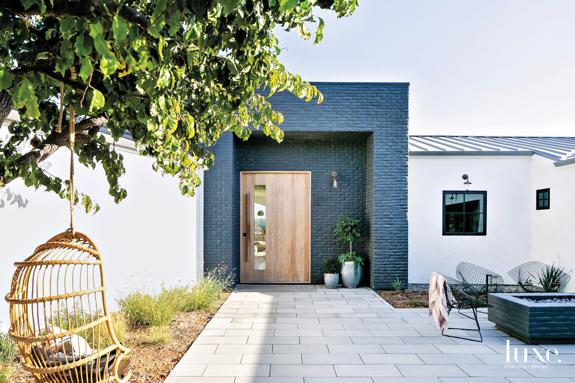 Front entry of house with...