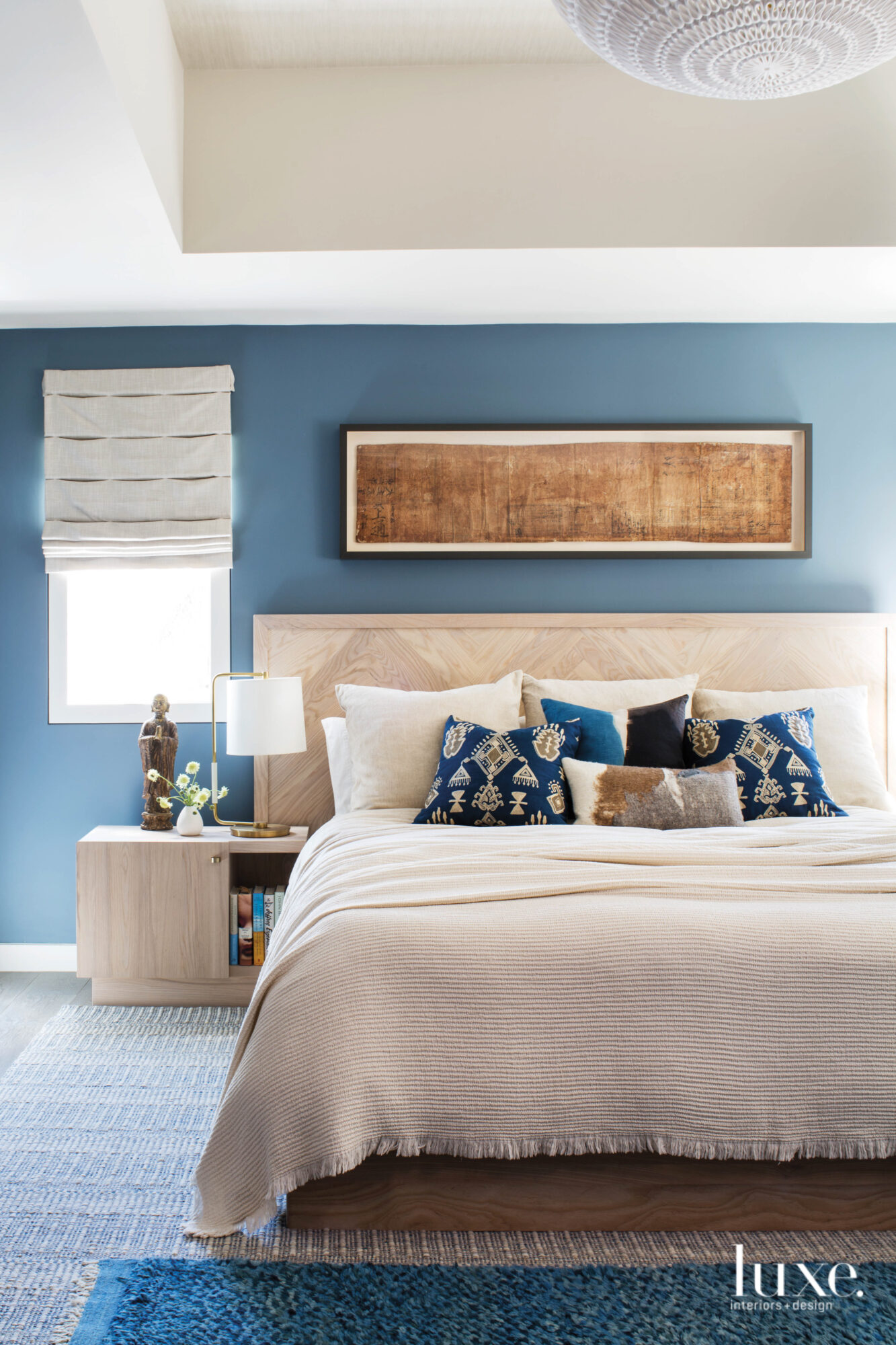 Second master bedroom with blue...