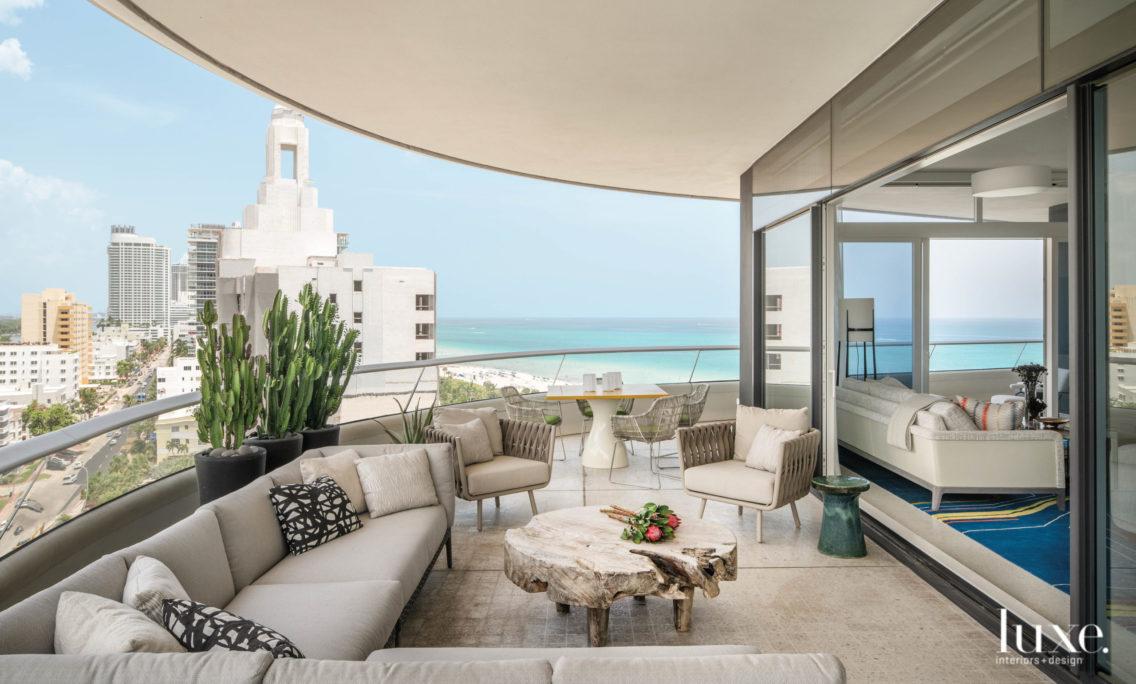 A Miami Beach Condo Balances Bold Interiors With Warm Tones