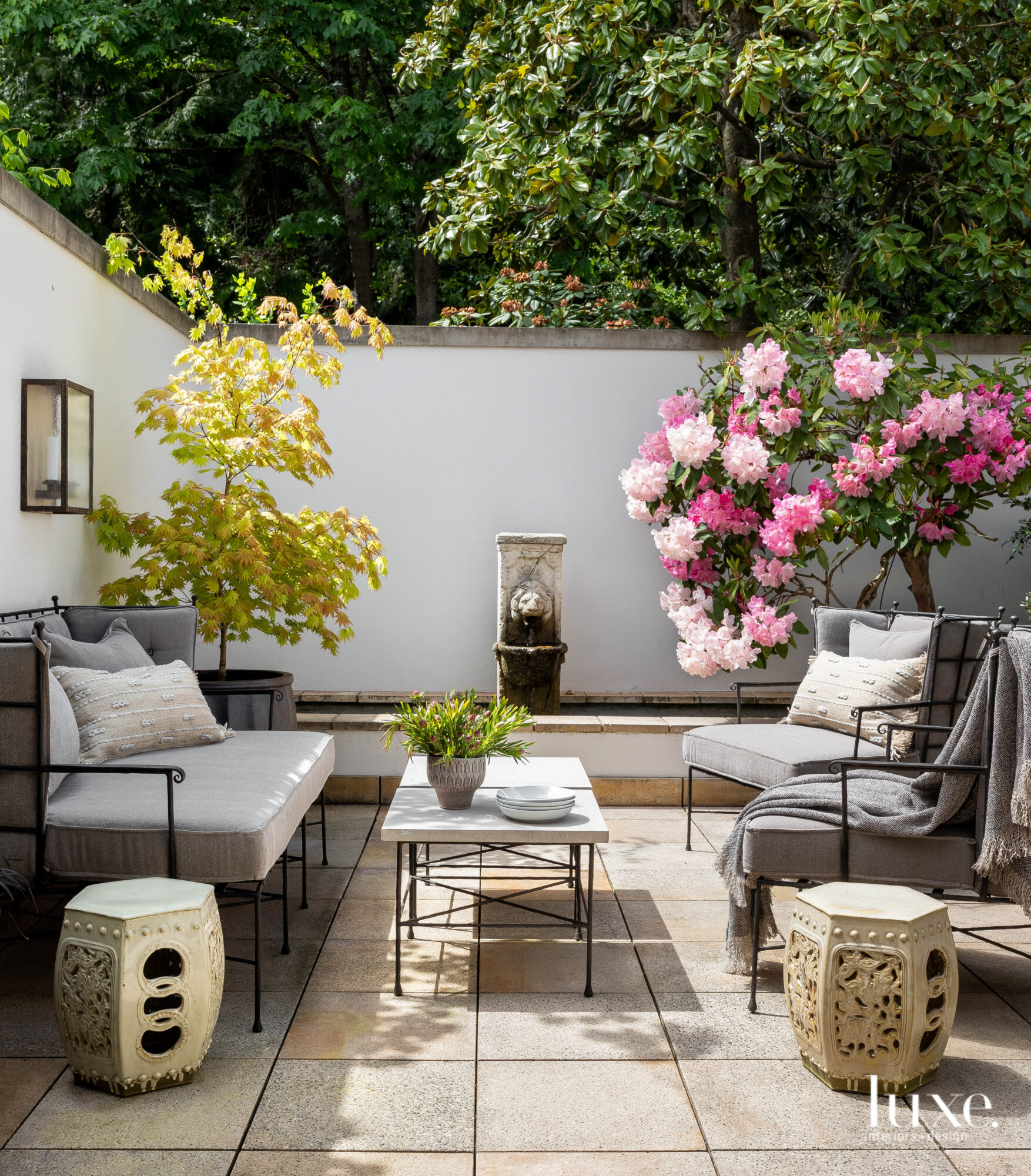 Outdoor seating area with sofa...