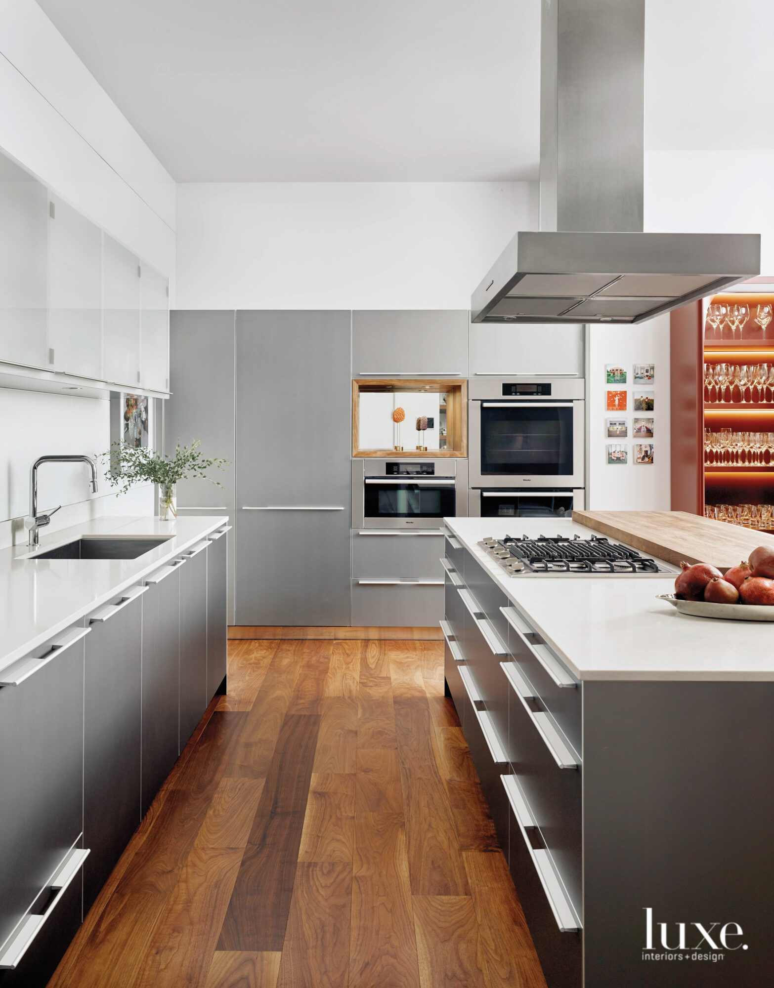 Sleek kitchen with Bulthaup cabinetry.