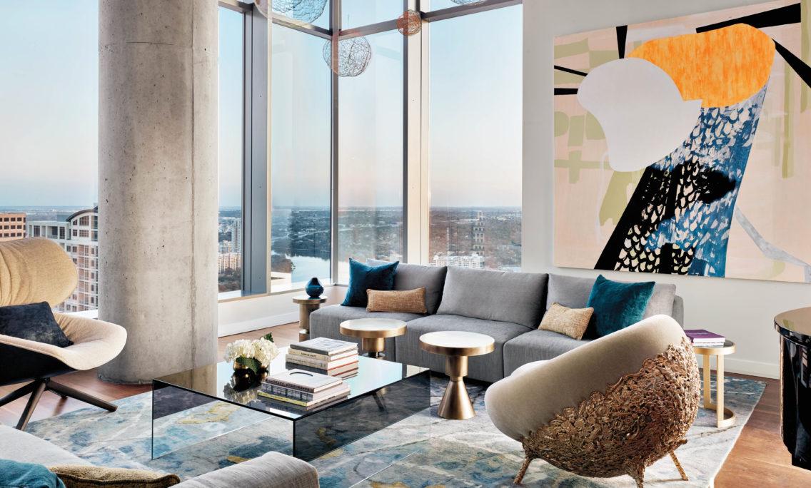 Rotating Art And Carefully Edited Interiors Mix High Above Austin