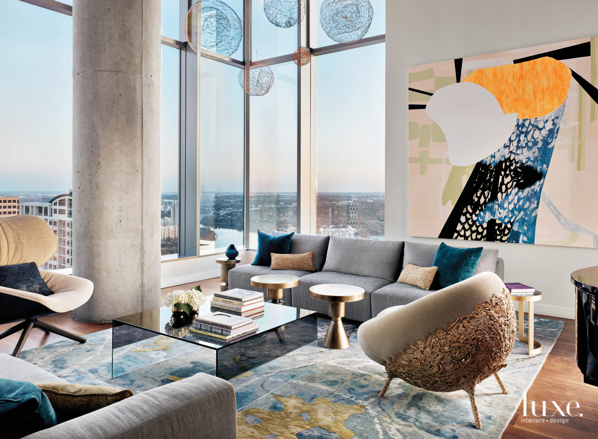 Living room of a high-rise...