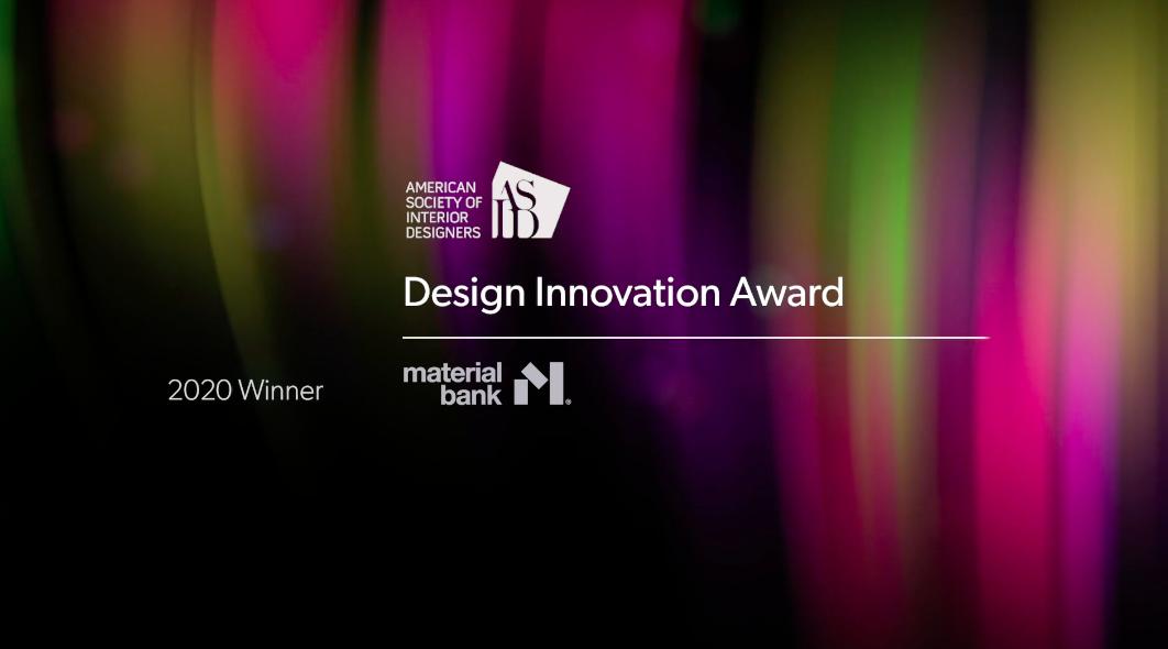 asid 2020 design innovation award material bank