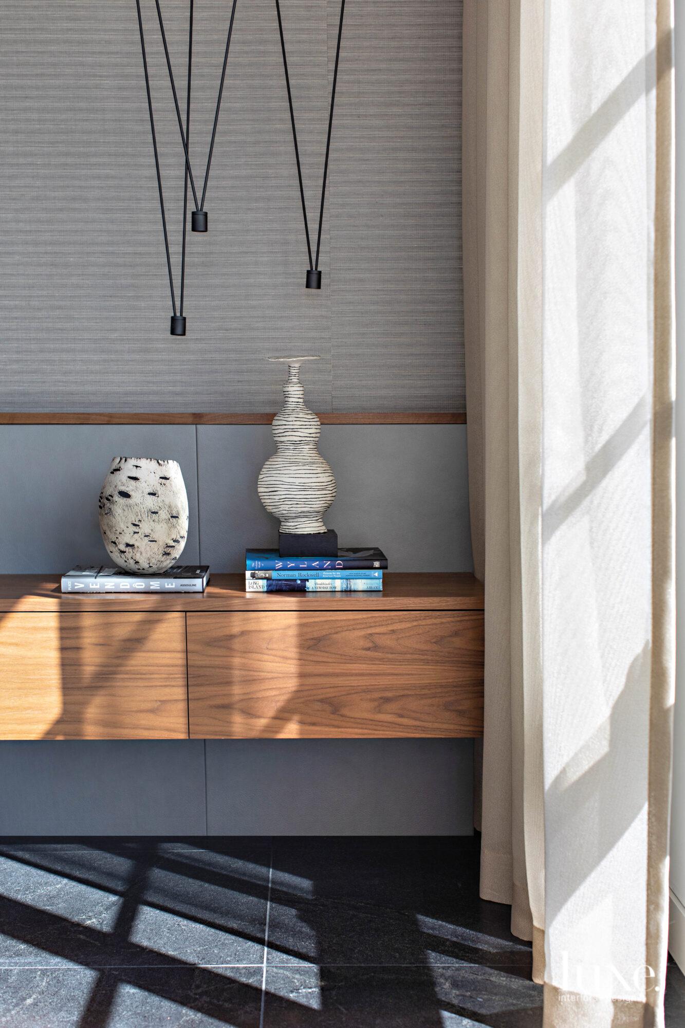 A shelf in the master...