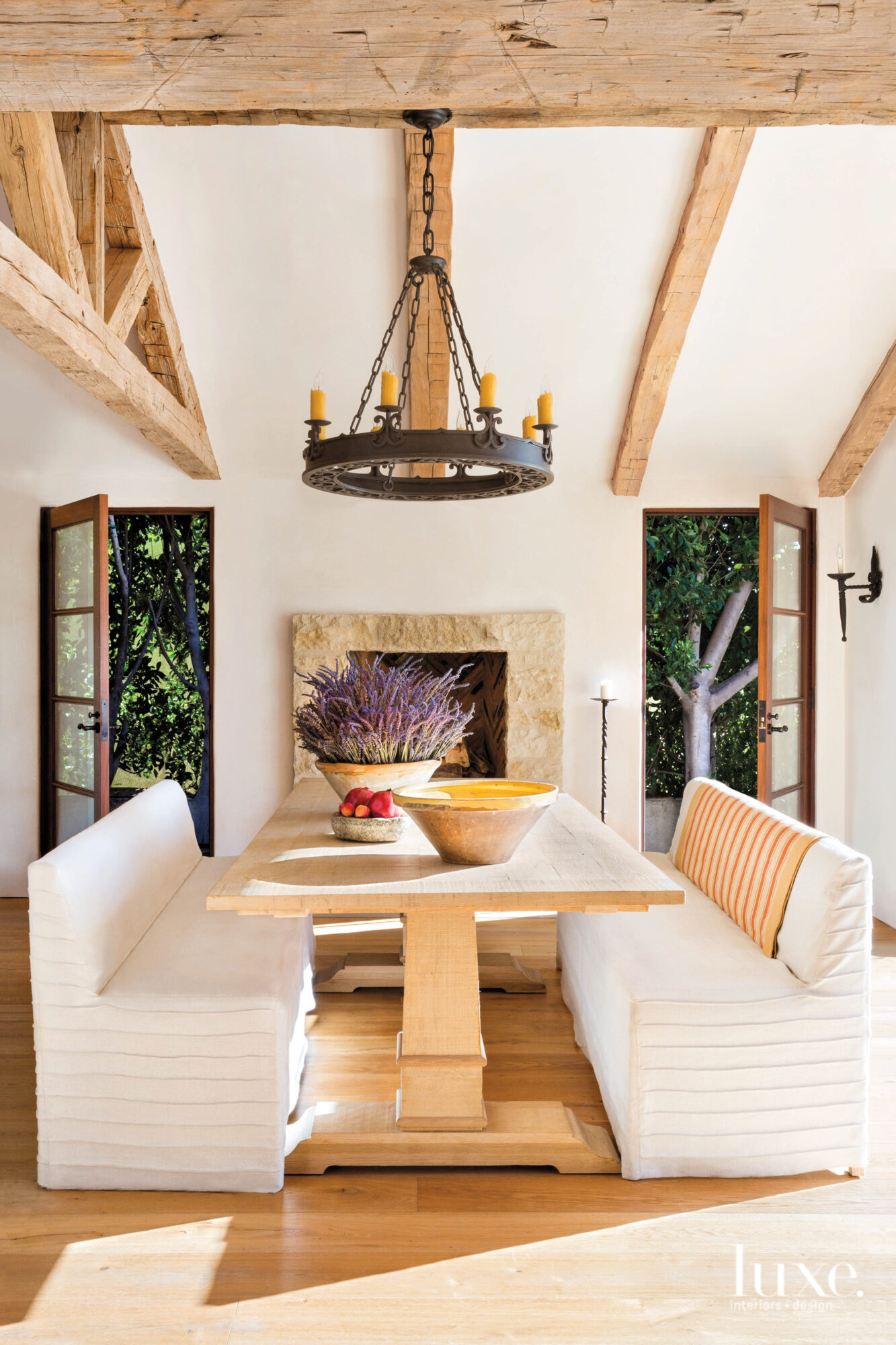 View of dining area with...