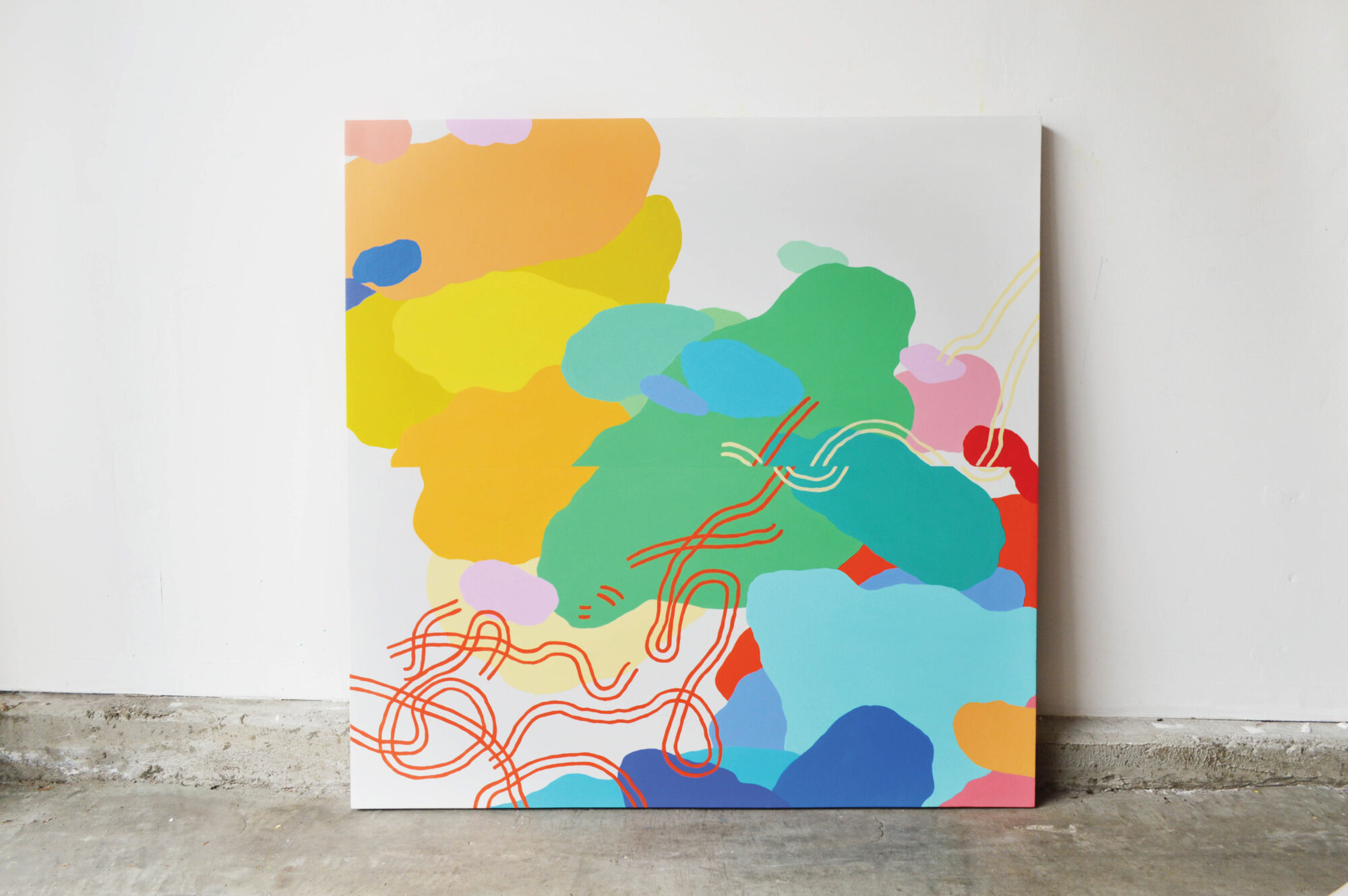 colorful artwork on canvas