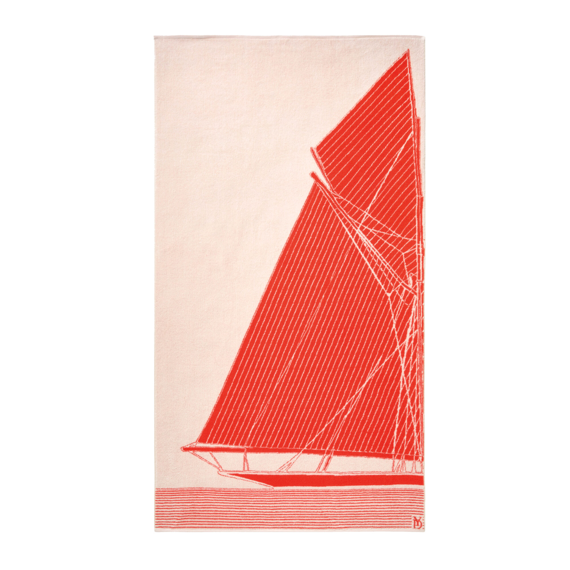 beach towel with sailboat