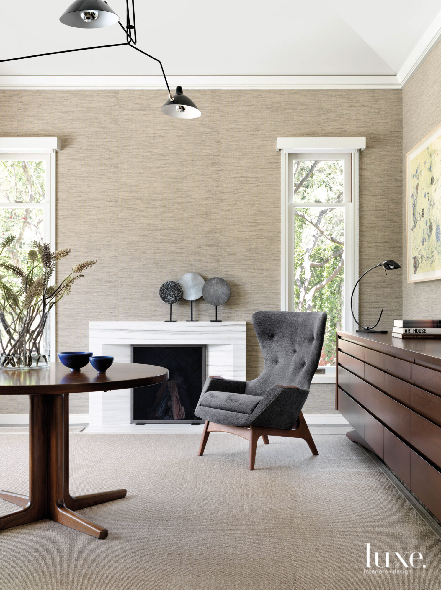 A study features a midcentury...