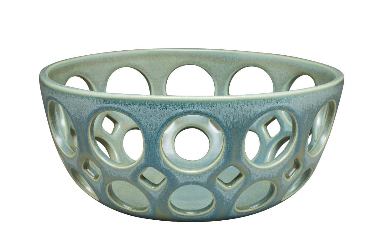 light greenish-blue ceramic bowl