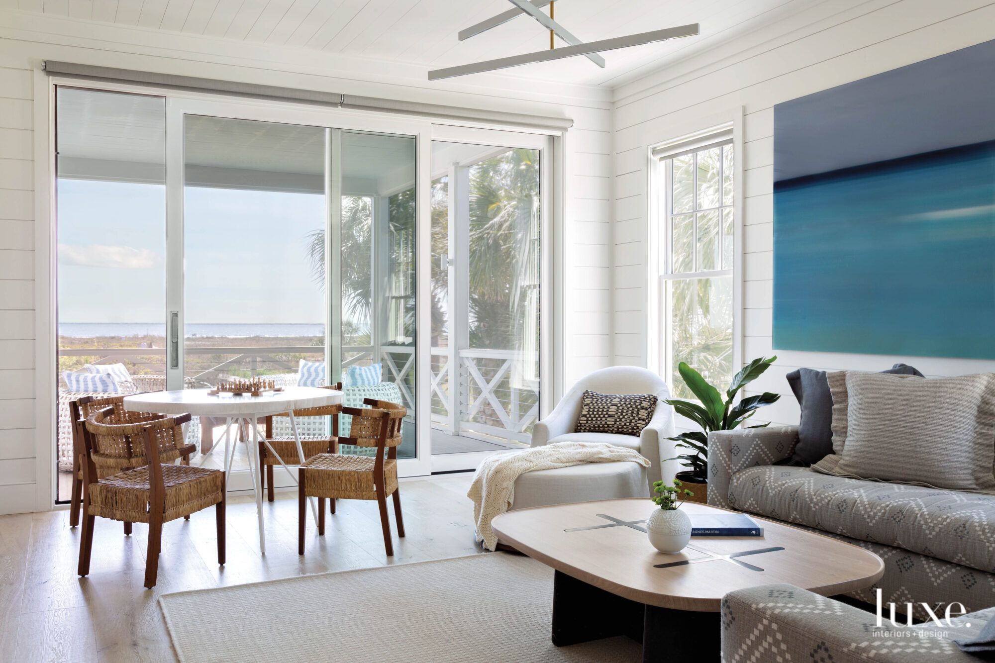 Family room overlooking the ocean...
