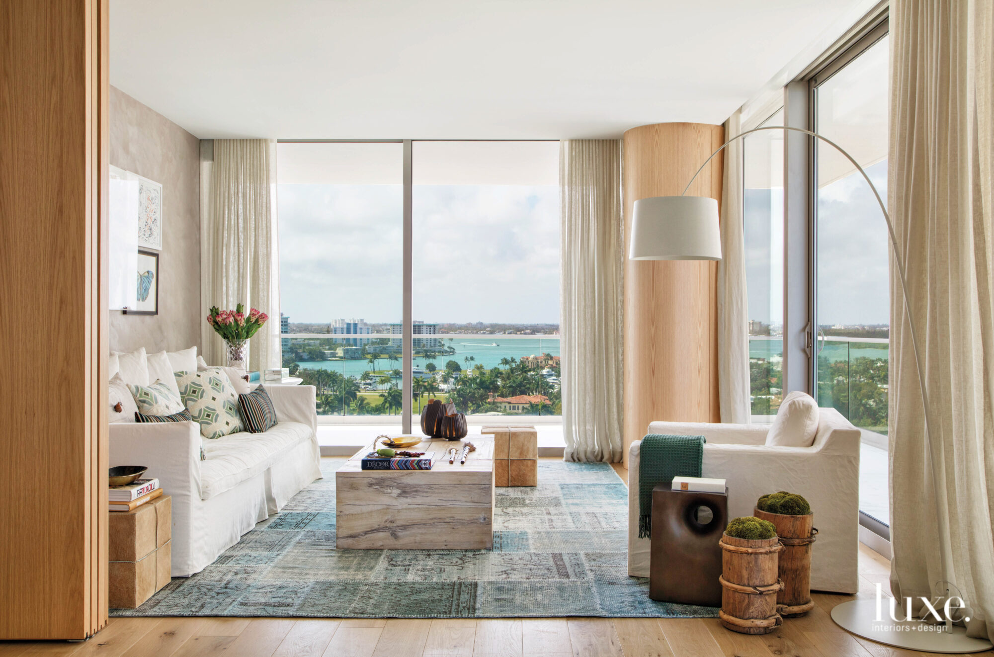 family room overlooking Miami