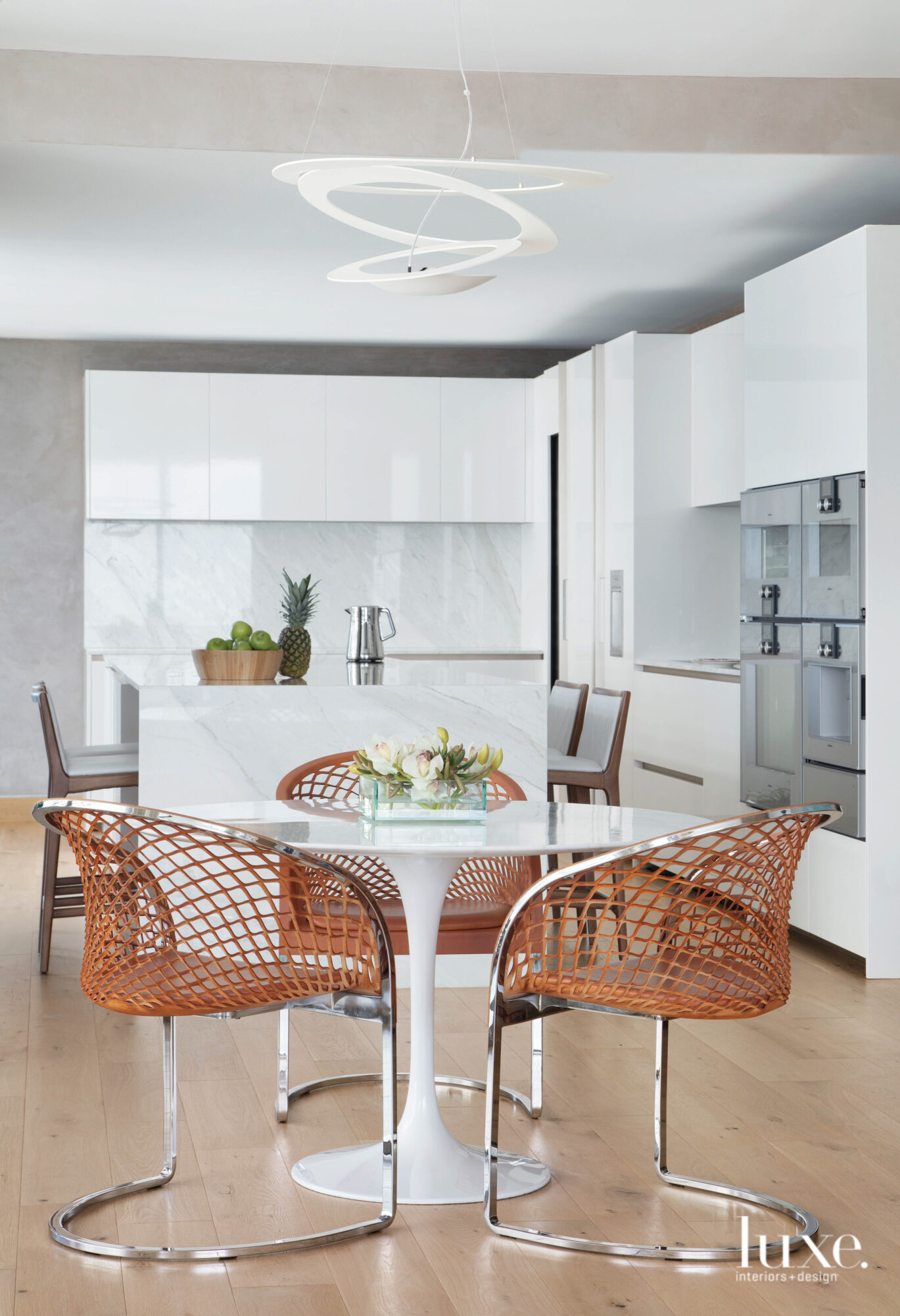 kitchen and breakfast nook with...