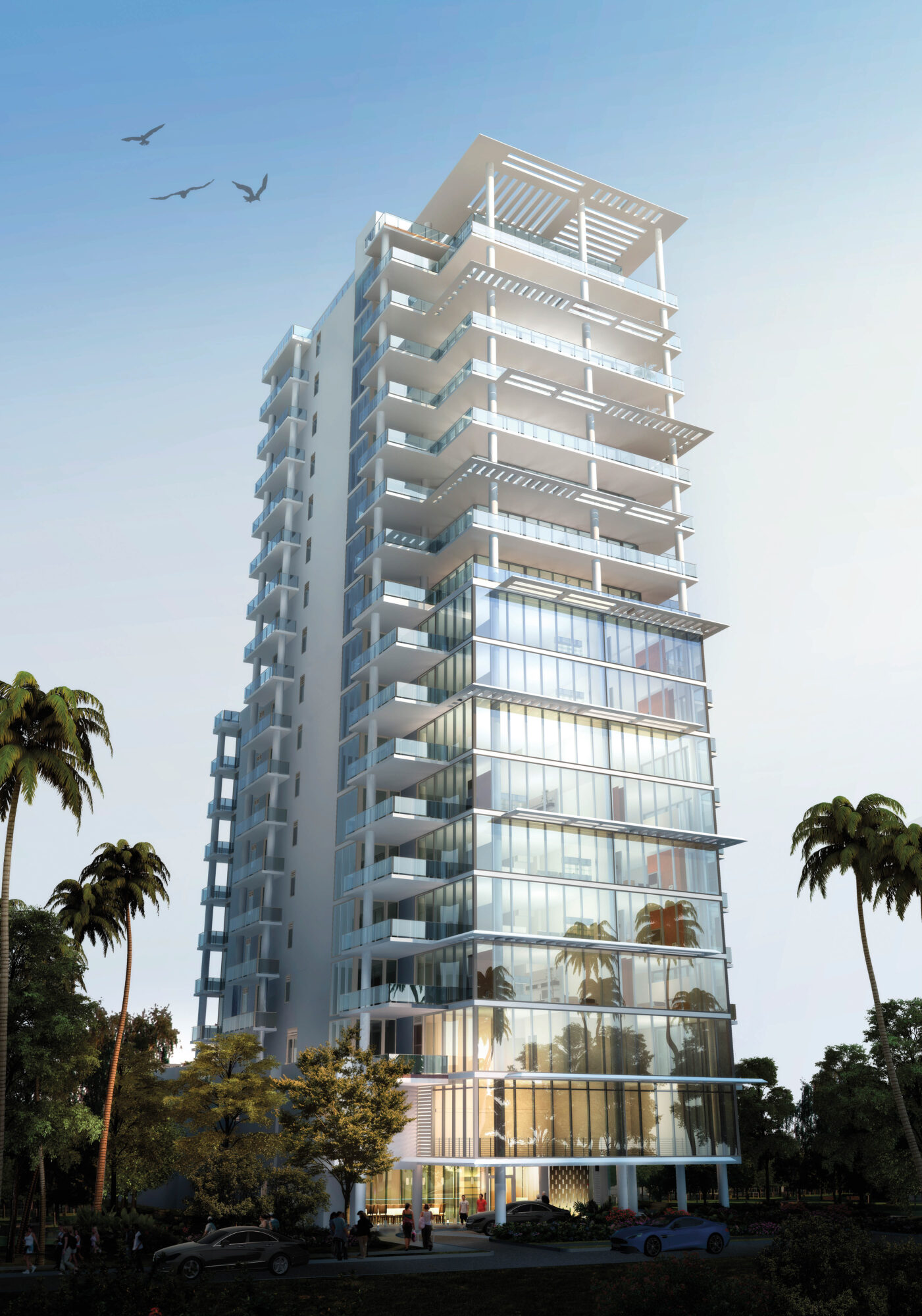 Rendering of a high-rise building