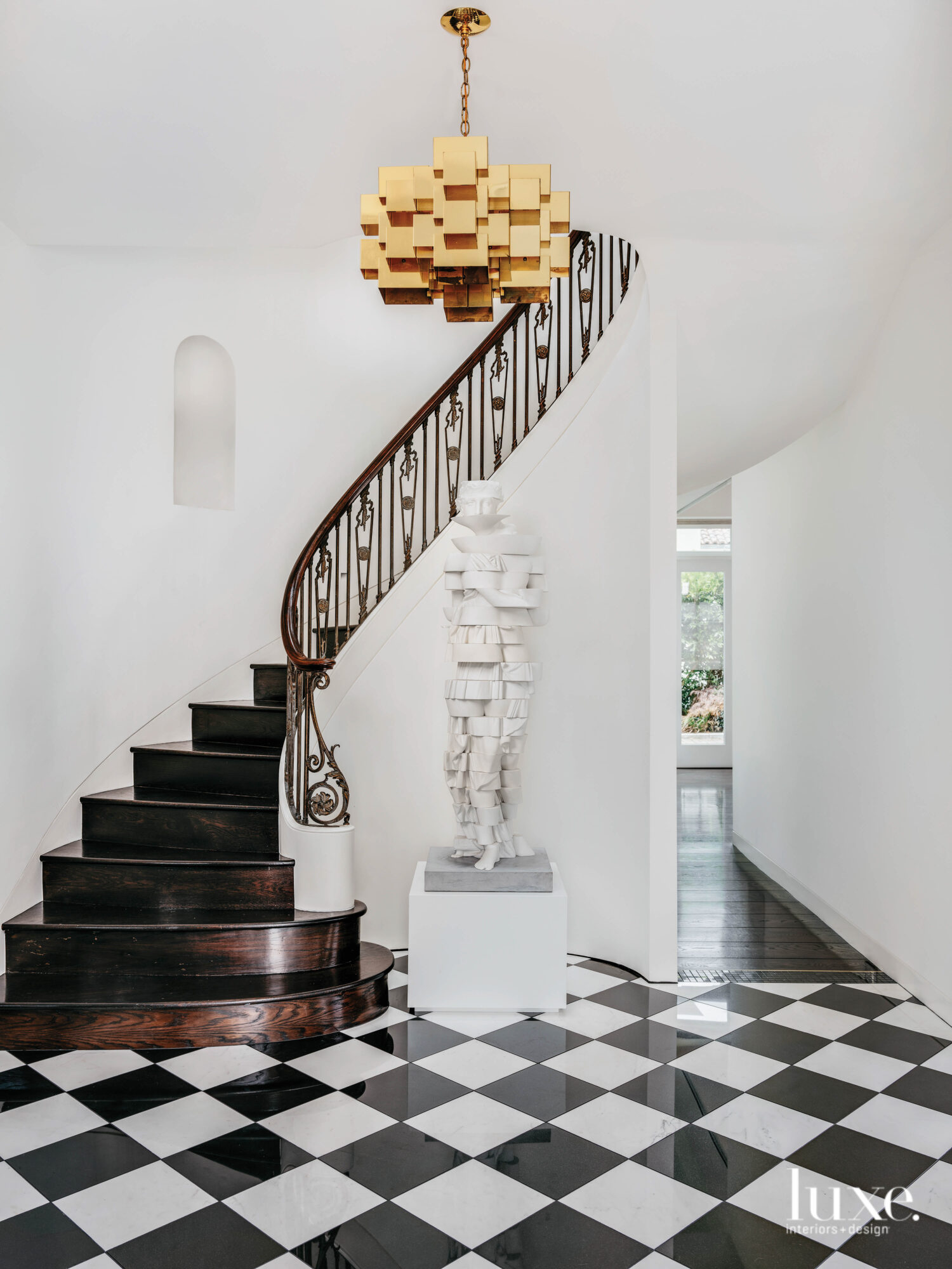 An entry stair is the...
