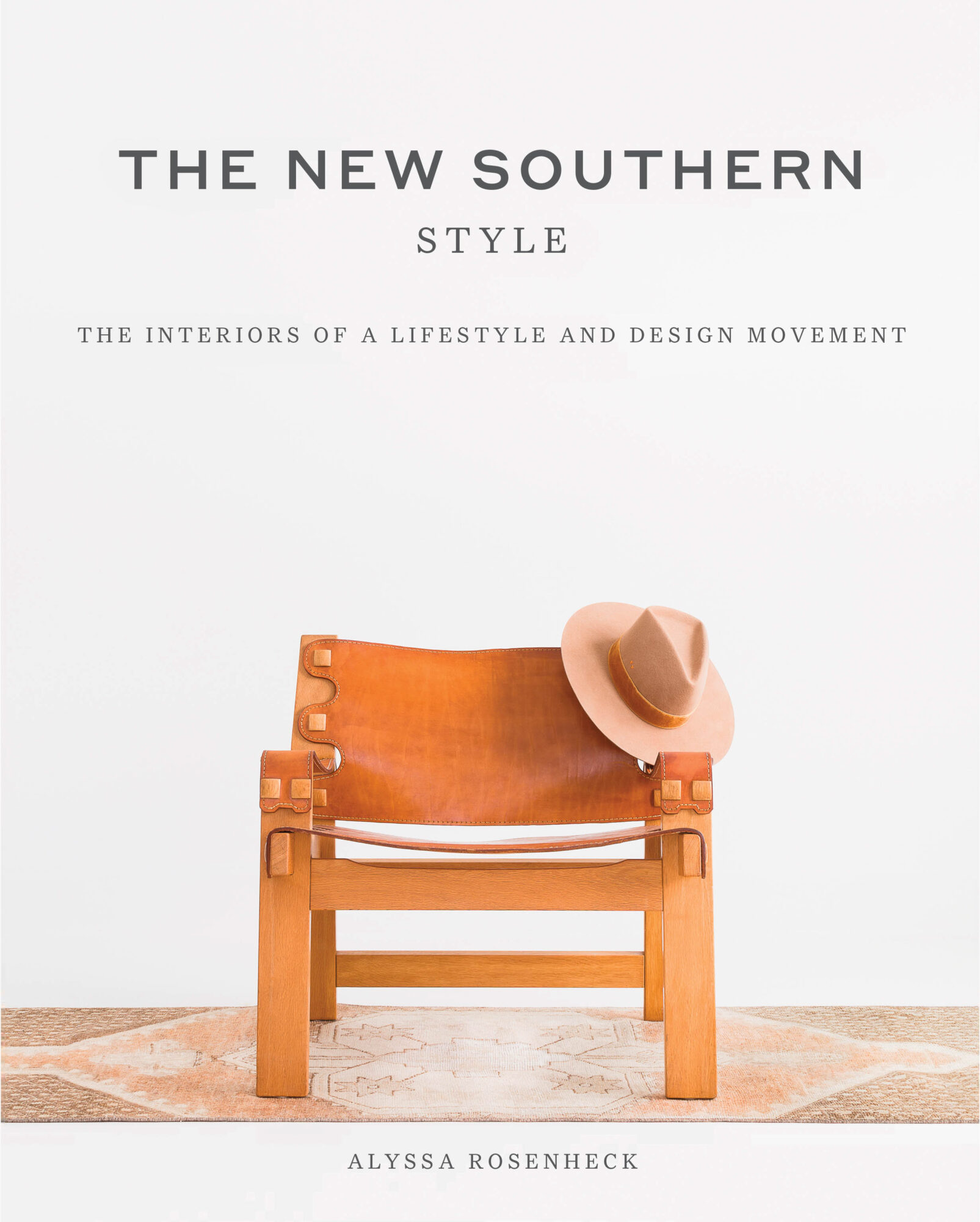 Book cover with leather armchair and cowboy hat