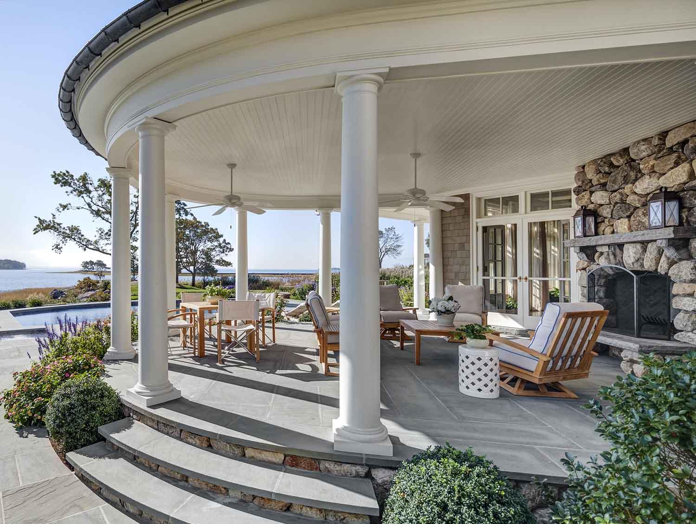 charles hilton new england shingle style patio
