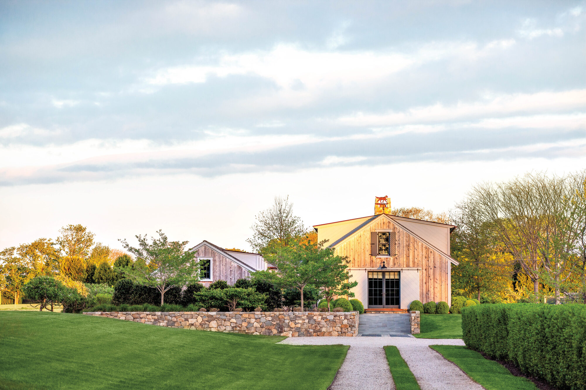 exterior landscape and barn bridgehampton