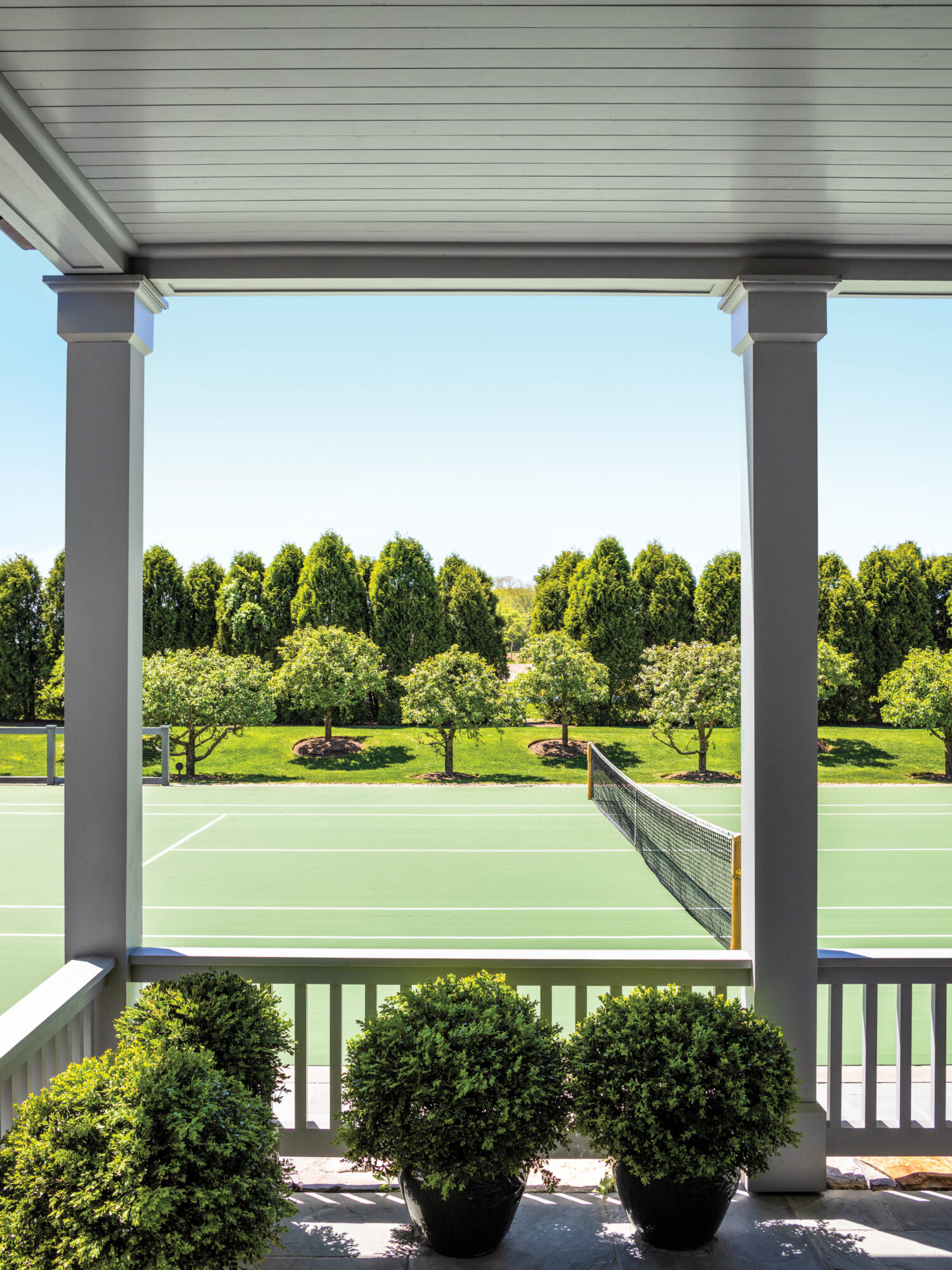 tennis courts outdoors