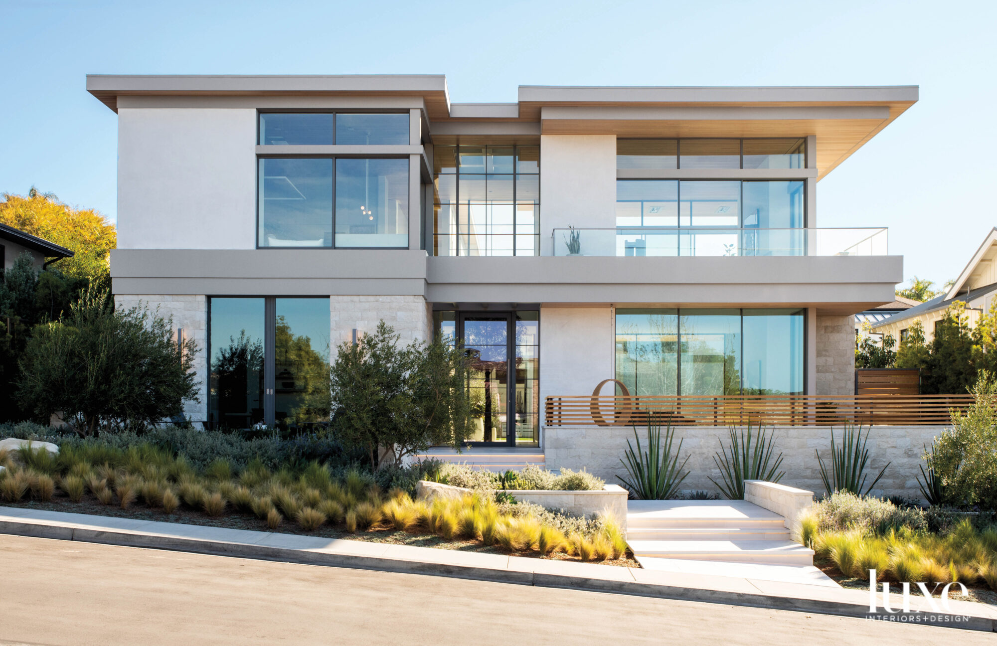 Exterior of Manhattan Beach house with two stories