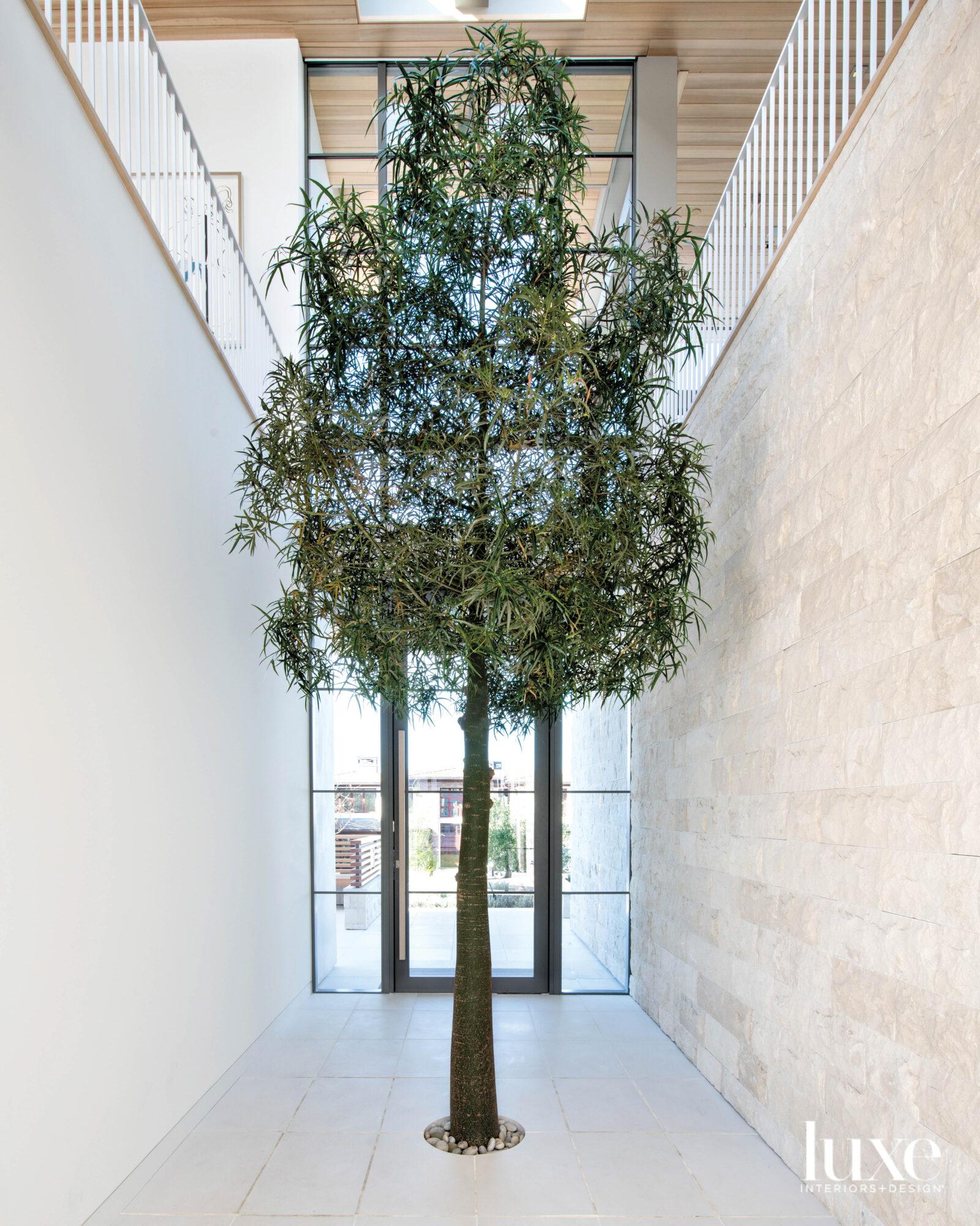 Atrium of a home with...
