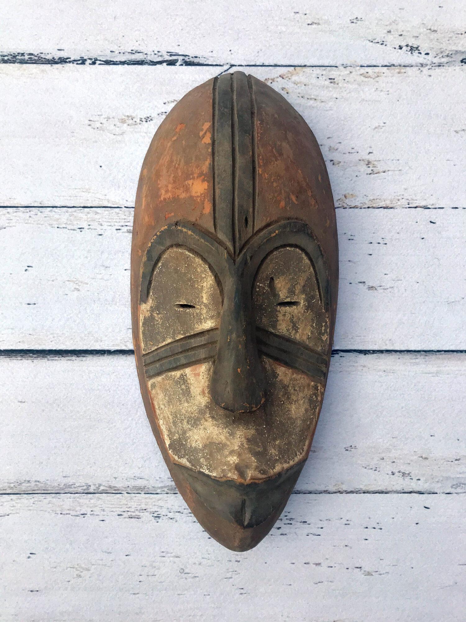 handmade face for decor