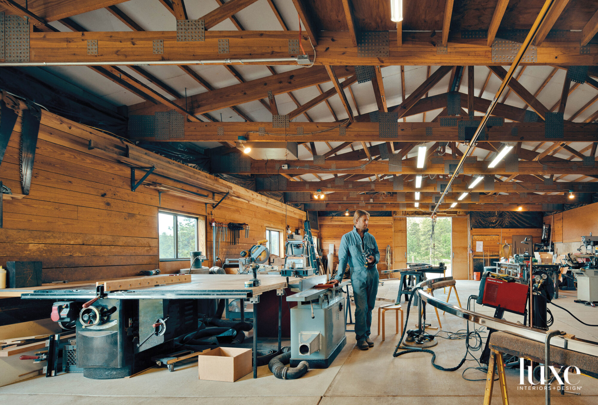Artist Patrick Marold stands in his barn studio.